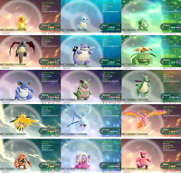 Pokemon Lets Go Pikachu & Eevee Shiny All 153 + Alolan  - 40Pack - You Choose