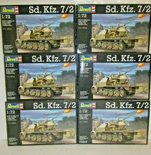 6 x Revell 03207 3207   Sd. Kfz 7/2      Deutsche Wehrmacht   1:72    NEU&OVP