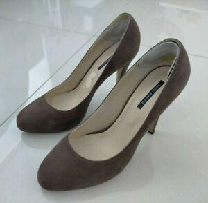 Tony Bianco Womens Size 9.5 Brown Leather Platform Heels Stilettos