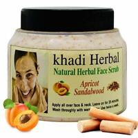 Khadi Natural Herbal Sandalwood face Scrub removes dead cells of Skin, Blemishes