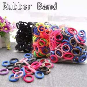 Wholesale Coloful Elastic Ponytail Rubber Band Unisex Simple Hair Ties Ring Rope