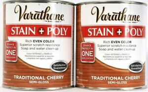 2 Varathane 32 Oz Stain & Poly 266164 Traditional Cherry Semi Gloss Even Color