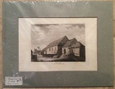 """Hand Colored 1783 Engraving """"HYDE ABBEY"""" Winchester in Hampshire UK Sculp PRINT"""