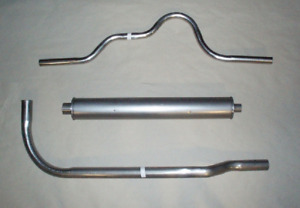 1930 BUICK 50 & 60 SERIES EXHAUST SYSTEM, ALUMINIZED
