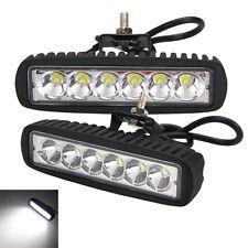 18W 2X 6 pouces LED WORK Lumière bar Spot offroad 4X4 voiture SUV dent au volant