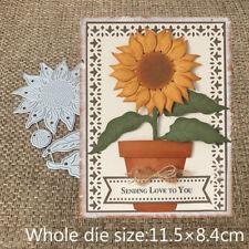 Sunflower Cutting Dies Embossing Machine Scrapbook Paper Card Crafts Accessories