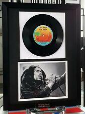 Bob Marley-Framed Original One Love-Vinyl Record-Plaque-Certificate-RARE