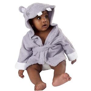 Cartoon Baby Boys Girls Cartoon Hooded Bathrobe Child Toddler Bathing Towel Robe