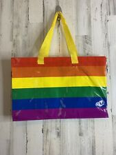 Ikea STORSTOMMA Bag Large Reusable Shopping Tote Storage Rainbow Pride NEW
