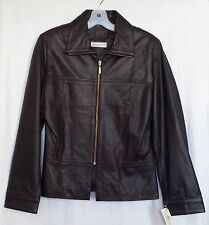 LADIES GENUINE LAMB LEATHER JACKET LINED MADE IN TURKEY,SIZE M,PURPLE MSRP $239