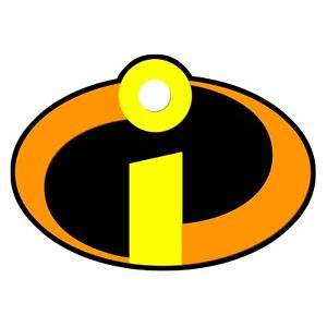 THE INCREDIBLES LOGO - IRON ON TSHIRT TRANSFERS - A6 A5 A4