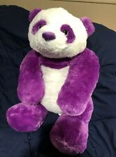 Aurora Soft Fluffy Large Purple & White 30 Inch Panda Bear Plush Stuffed Animal