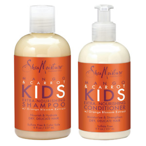 SheaMoisture Mango & Carrot KIDS Shampoo&Conditioner, Dry, Delicate Hair, 8 oz