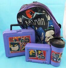 Vintage Batman Job Lot Bluebird Lunch boxes, Drinks Bottle & Rucksack, 1980,s