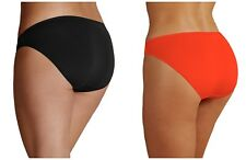 Ex M&S Black Orange No VPL Microfibre High Leg Knickers
