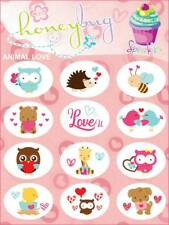 Honeybug MAGNETIC reborn doll PACIFIER baby ANIMAL LOVE sheet 12 decals