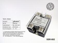 SSR-802 Leistungssteller 40A 230V Ansteuerung 0-10V analog