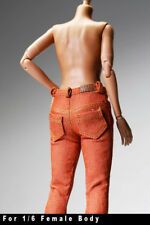 gc0167 Orange Brown Slim fit fashion pants Jeans for 1/6 female action figure