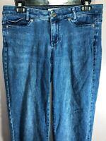 J Jill Size 6 Petite Jeans Denim Slim Boyfriend Straight Leg Stretch  ZK10