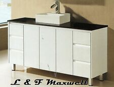 Bathroom Vanity with Stone Top and Ceramic Basin 1500mm