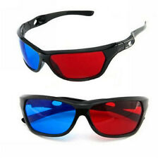 Cool 3D Glasses Red Blue Black Frame For Dimensional Anaglyph TV Movie DVD Game