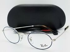 c951f7fefde NEW Rayban Rx Frame Blue-Silver RX3547V 2970 48mm 3547 AUTHENTIC Round Oval