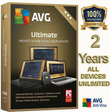AVG ULTIMATE 2018, 2 YEAR FOR UNLIMITED DEVICES, WINDOWS, MAC, ANDROID, DOWNLOAD