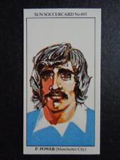 The Sun soccercards 1978-79 - PAUL Power - Manchester City #693