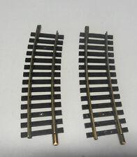 F33) 2 rails laiton courts courbes 1703 FLEISCHMANN R= 357,5 train electrique HO