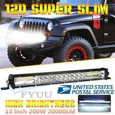 "13"" Ultra Slim LED 2-Row 20000LM Car SUV Work Light Spot Flood Combo Beam Lamp"