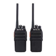 Nuovo 2pcs Retevis RT24 PMR446 Free License Scan 0.5W / 2W 2-Way Radio CO