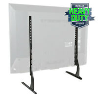 "Modern Tabletop TV Stand - Universal Base Replacement - 24-65"" Screens"