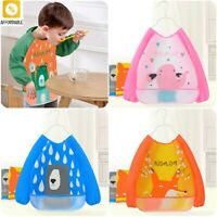 Bib Waterproof Stain Resistant Cape Children Drawing Smock For Girl Boy Washable