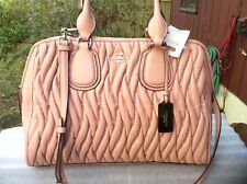 NWT COACH NOLITA PINK GATHERED LARGE LEATHER SATCHEL SHOULDER BAG 33533