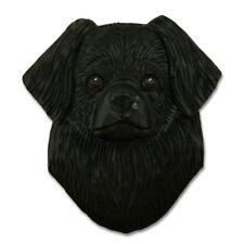Tibetan Spaniel Head Plaque Figurine Black