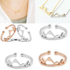 Fashion Dainty Mountain Snowy Necklace Pendant Ring Jewelry Charm Girl Gift New