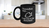 Do Not Disturb Mug Black Coffee Cup Funny Gift Gamer Introvert Artist Creator