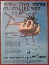 9/1982 PUB HUGHES HELICOPTERS CULVER CITY HUGHES 500D HUBSCHRAUBER ORIGINAL AD