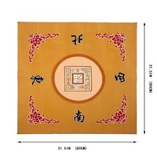 "Universal Mahjong / Paigow / Card / Game Table Cover - Yellow Mat 31.5"" x 31."
