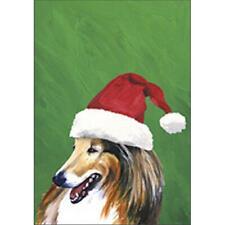 Collie Christmas Flag