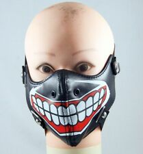 Black Big Smile Teeth Half-face Mask Adult Unisex Biker Gothic Punk Masquerade