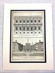 1756 Antique Print The Banqueting House Whitehall London Westminster Inigo Jones