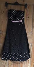 Women's BNWT Lipsy Prom Dress Cocktail Dress Polka Dot Dress 50s Dress M-L Size