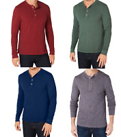 Club Room Men's Garment Dyed Long-Sleeve Henley Shirt, Assorted Colors