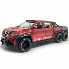 X-Class 6x6 Pickup Truck 1:28 Model Car Diecast Toy Vehicle Kids Collection Red