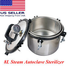 Dental Equipment 8L Portable Steam Autoclave Sterilizer Heating 110V FDA US Ship