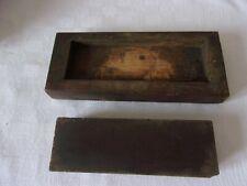 Rare Ancienne pierre a aiguiser coupe choux 50 / 150 mm ideal deco salle de bain