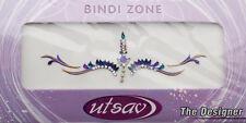 Bindi violet dore bijoux de peau mariage autoadhesif strass front sourcils 3632
