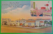 Chase Inn Motel-Pacific Hwy 101-Long Beach, Ca.-Vintage Art Deco Linen Postcard