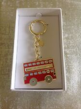 MICHAEL KORS DOUBLE DECKER RED BUS KEY CHAIN NEW